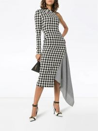 Off-White Houndstooth One-shoulder Dress - Farfetch at Farfetch