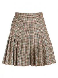 Off-White - Check Pleated Wool Mini Skirt at Saks Fifth Avenue