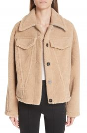 Off-White Bear Faux Shearling Track Jacket   Nordstrom at Nordstrom