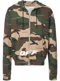 Off-White Camouflage Print Hoodie - Farfetch at Farfetch
