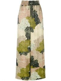 Off-White Floral-print Wide-leg Trousers at Farfetch