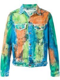 Off-White Painted Denim Jacket - Farfetch at Farfetch