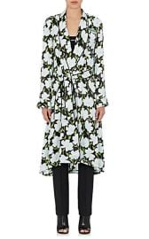 Off-White co Virgil Abloh Floral Satin Robe Coat at Barneys Warehouse