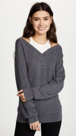 Off the Shoulder Sweater with Inner Tank at Shopbop