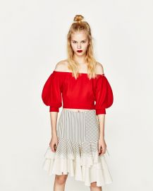Off the Shoulder Top at Zara