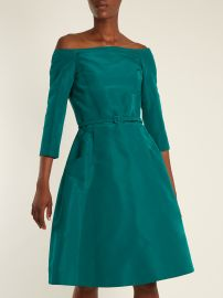 Off-the-shoulder silk-faille dress at Matches