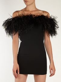 Off-the-shoulder Ostrich feather-trimmed at Matches