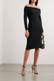 Off-the-shoulder ruched stretch-jersey dress at Net a Porter