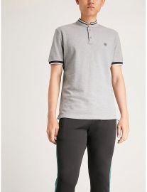Officer-Collar Polo Shirt  Sandro at Selfridges