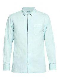 Officine Generale - Crinkled Linen-Blend Shirt at Saks Fifth Avenue