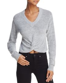 Olivaceous Twist-Front Cropped Sweater at Bloomingdales