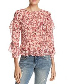 Olivaceous Floral Ruffle Blouse at Bloomingdales