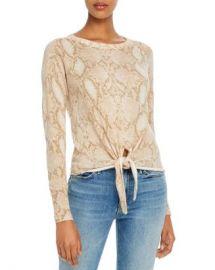 Olivaceous Snake-Print Tie-Front Sweater  Women - Bloomingdale s at Bloomingdales