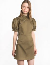 Olive Snap Button Dress at Pixie Market