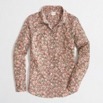 Olive thicket floral print shirt  at J. Crew