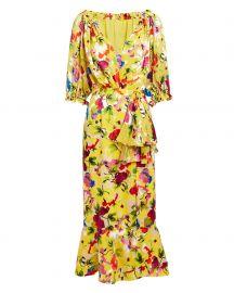 Olivia Floral Midi Dress by Saloni at Intermix