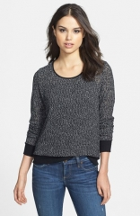 Olivia Moon Lace Inset Back Pullover at Nordstrom
