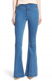 Olivia Palermo   Chelsea28 High Rise Flare Jeans  Mode Lt Rinse at Nordstrom