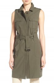 Olivia Palermo and Chelsea28 Long Military Vest at Nordstrom