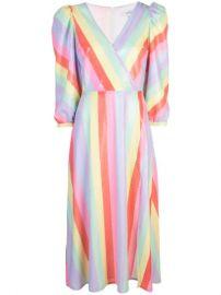 Olivia Rubin Pastel Stripe Dress - Farfetch at Farfetch