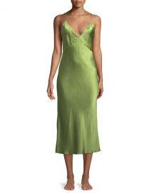 Olivia Von Halle Issa Sleeveless Silk Nightgown at Neiman Marcus