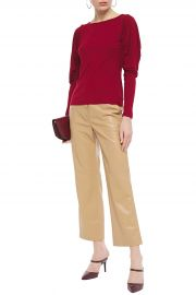 Olivia ruched stretch-jersey top at The Outnet