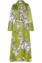 Olivia von Halle - Capability Rola printed silk robe at Net A Porter