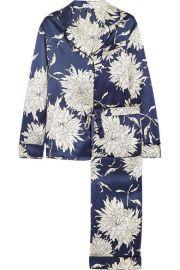Olivia von Halle   Lila Grace floral-print silk-satin pajama set at Net A Porter