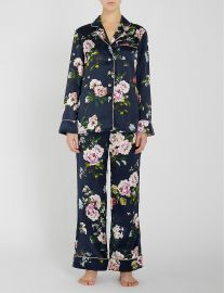 Olivia von Halle Lila Meredith Pajamas at Selfridges