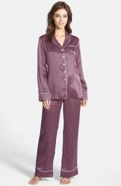Olivia von Halle and39Lilaand39 Print Silk Pajamas at Nordstrom