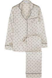 Olivia von HalleandnbspandnbspLila Amalia printed silk-satin pajama set at Net A Porter
