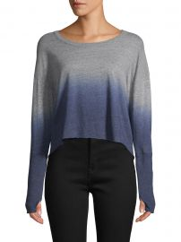 Ombré Cropped Sweater at Saks Off 5th