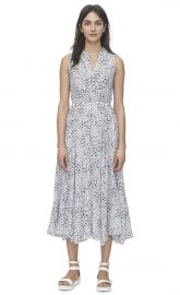 Ombre Leopard Ruched Dress at Rebecca Taylor