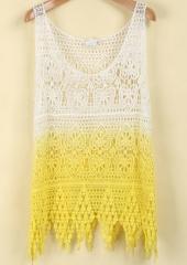 Ombre crochet vest at She Inside