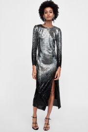 Ombre sequin dress at Zara