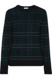 Ondine checked wool-blend sweater at The Outnet