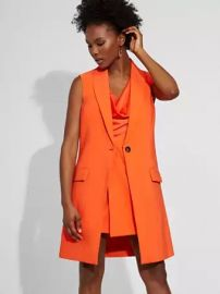 One-Button Vest - Gabrielle Union Collection at NY&C