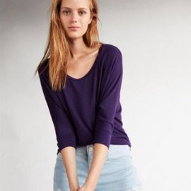 One Eleven Scoop Neck Slouchy Dolman Tee at Express