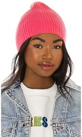 One Grey Day Crew Cashmere Beanie in Pink Shock from Revolve com at Revolve