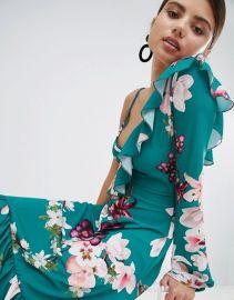 One Shoulder Floral Midi Dress by Boohoo at Asos at Asos