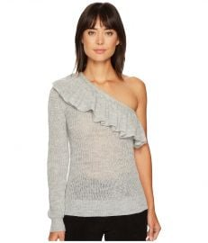 One Shoulder Ruffle Alpaca Pullover by Rebecca Taylor at 6pm