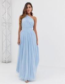 One Shoulder Tulle Maxi Dress by ASOS at ASOS