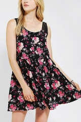 One and Only X Urban Renewal Floral Tank Dress at Urban Outfitters