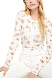 One of the Girls Floral Thermal Henley by Free People at Nordstrom Rack