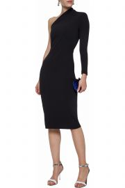 One-shoulder Crepe Dress  Solace London at The Outnet