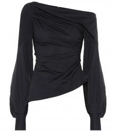 One-shoulder cotton top at Mytheresa