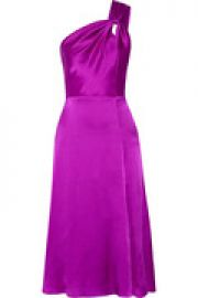 One-shoulder silk-charmeuse dress at The Outnet