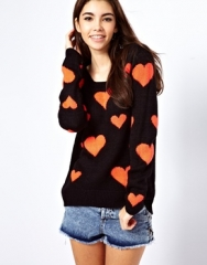 Only  Only Heart Sweater at Asos