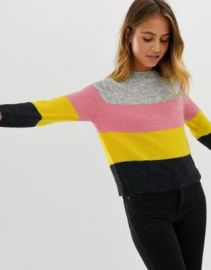Only Maribel multi stripe sweater in wool blend   ASOS at Asos
