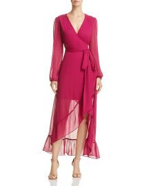 Only You Ruffle Wrap Dress by Wayf at Bloomingdales